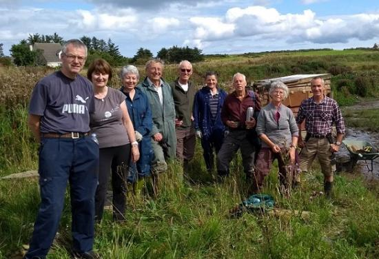 Photograph of Day of action at Caithness bird haven