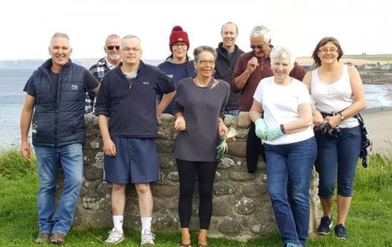 Photograph of Thurso volunteers planning BIG clean up of Riverside area
