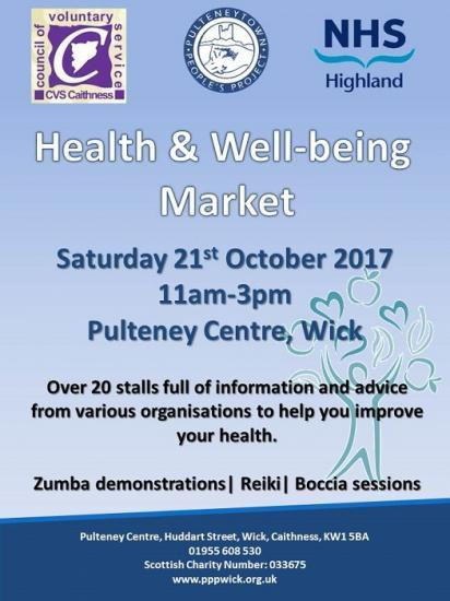 Photograph of Wick event to focus on health and wellbeing services