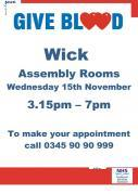 Thumbnail for article : Give Blood At Assembly Rooms, Wick