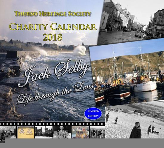 Photograph of Thurso Heritage Society's 2018 charity calendar on sale