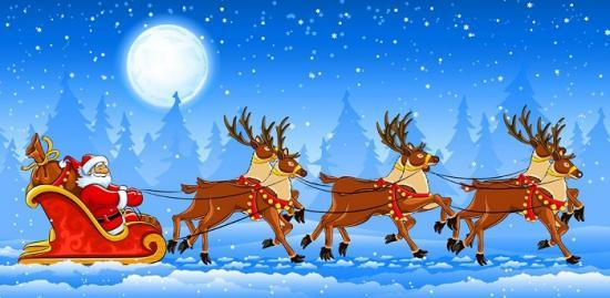 Photograph of Santa's Sleigh Coming To Wick