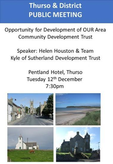 Photograph of Public Meeting to explore opportunity for Community Development Trust for Thurso and District