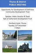 Thumbnail for article : Public Meeting to explore opportunity for Community Development Trust for Thurso and District