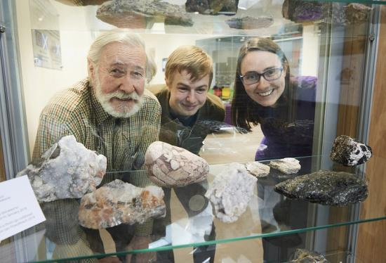 Photograph of Students learn that geology rocks with new donation