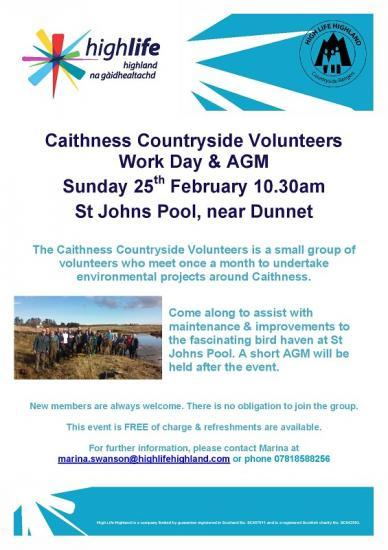 Photograph of Caithness Countryside Volunteers Work Day and AGM