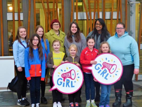 Photograph of Leading Female Politicians Back GIRLGUIDING SCOTLAND & WOMEN 50:50'S New Campaign