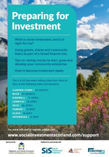 Photograph of 'Preparing for Investment' in the Highlands and Islands - charities, social enterprises, community enterprise