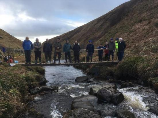 Photograph of John O'Groats Trail Group Install New Footbridge at Ousdale