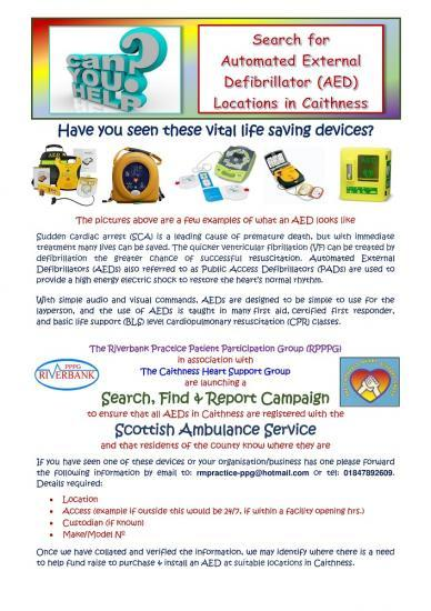 Photograph of Do You Know where Defibrillators Are In Caithness?