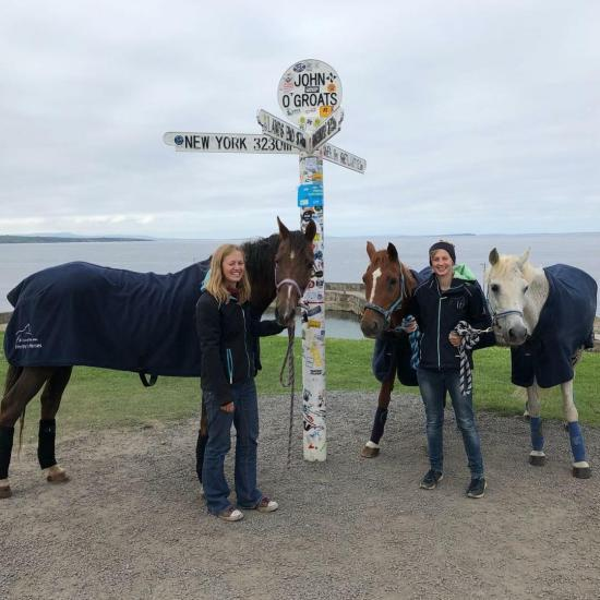 Photograph of Riding Horses From John O'Groats To Lands End For Charities