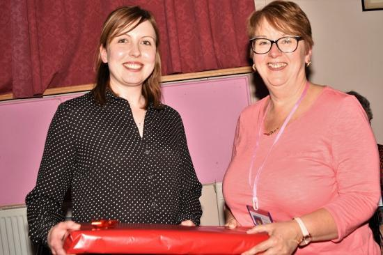 Photograph of Gift for Guest Speaker Councillor Nicola Sinclair