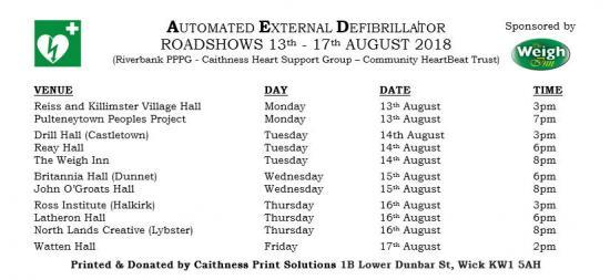 Photograph of AED Roadshows In Caithness