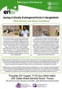 Thumbnail for article : Saving Critically Endangered birds in Bangladesh - ERI Talks