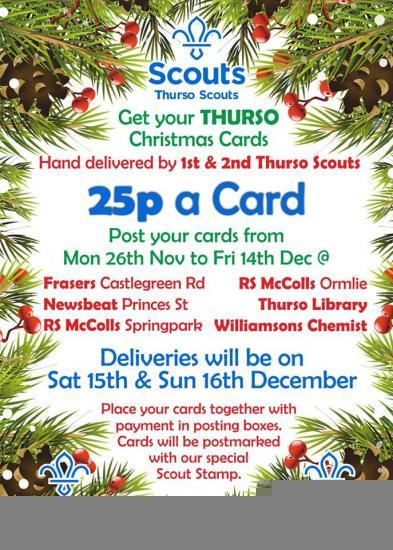 Photograph of Thurso Scouts Christmas Post 2018