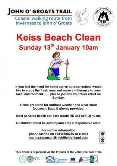 Photograph of Keiss beach clean - Sunday 13th January 2019