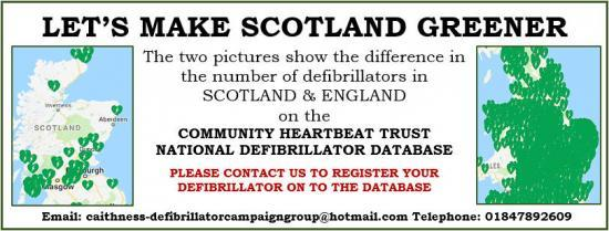 Photograph of Caithness defibrillator campaign group (cdcg) big donation