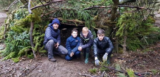 Photograph of Wick High School Pupils Help With Noss Forest Project