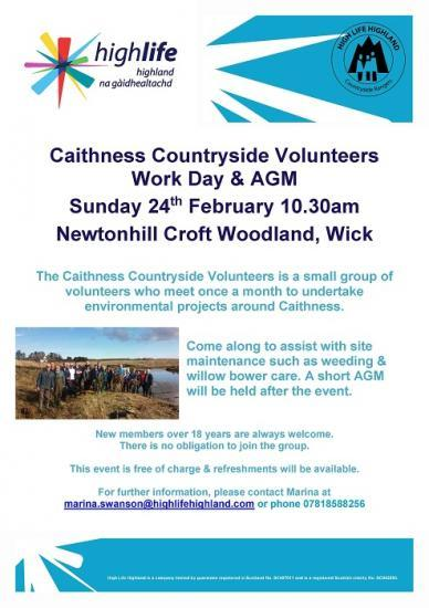 Photograph of Caithness Countryside Volunteers AGM and Work Day