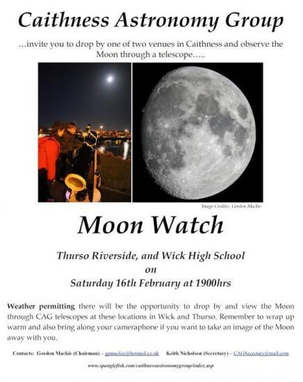 Photograph of Caithness Astronomy Group Moon Watch Observing Sessions
