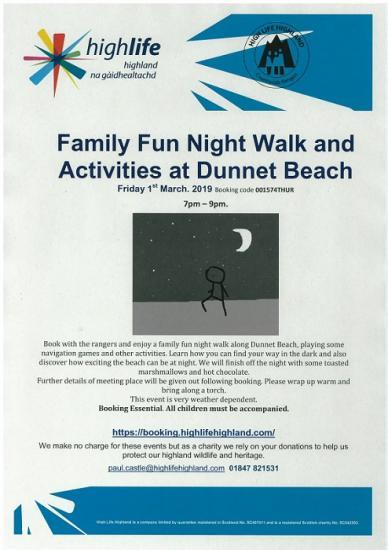 Photograph of Family Fun Night and Activities At Dunnet Beach
