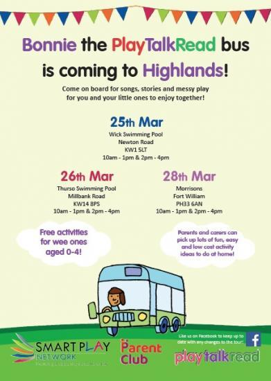 Photograph of Play Talk Read Bus Coming To Thurso and Wick