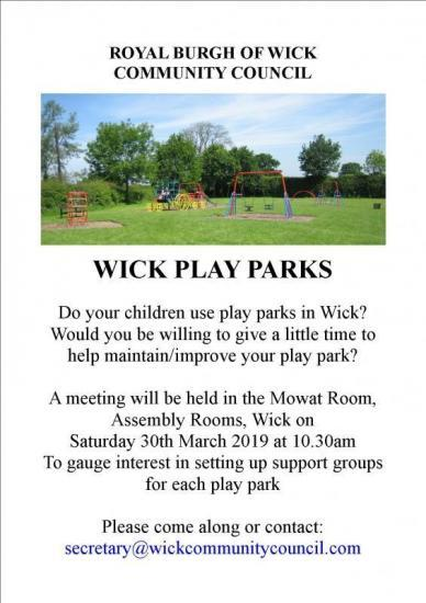 Photograph of Wick Play Parks Meeting - Community Taking Control - Are You In?