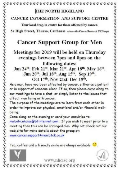 Photograph of Cancer Support Group for Men - Meetings for 2019