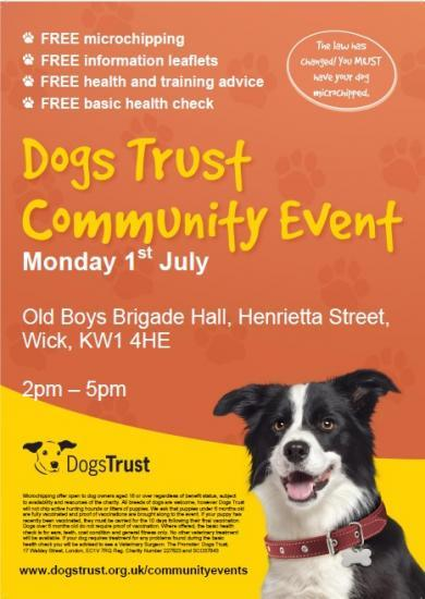 Photograph of Free Dog microchipping and healthcare events - Wick