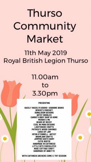 Photograph of Community Market In Thurso 11th May 2019