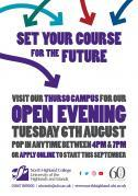 Thumbnail for article : North Highland College Open Evening