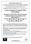 Thumbnail for article : Cancer Support Group for Men (CSG4Men) Meeting Dates For 2020