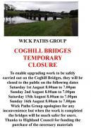 Thumbnail for article : Temporary Closure Of The Coghill Bridges In Wick