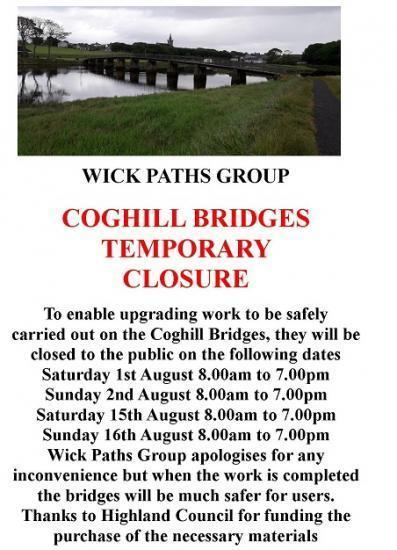 Photograph of Wick Paths Group Return To Work On The Coghill Bridges - Saturday 15th August