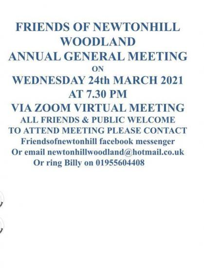 Photograph of Newtonhill Community Woodland AGM 24 March 2021